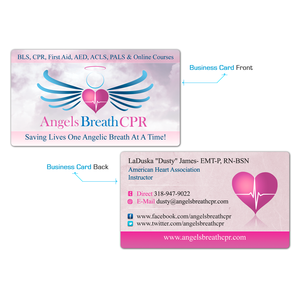 Angels Breath Business card Design