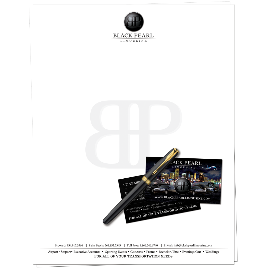 Black Pearl Limousine Stationary