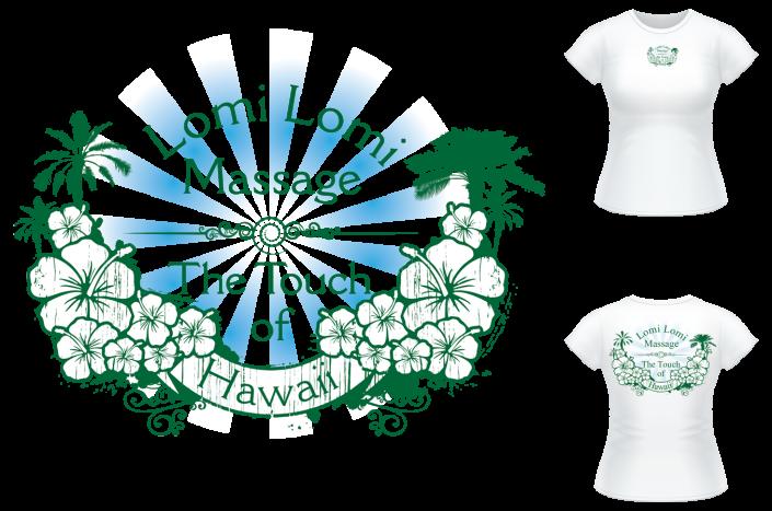 Lomi Lomi Massage T-Shirt Design