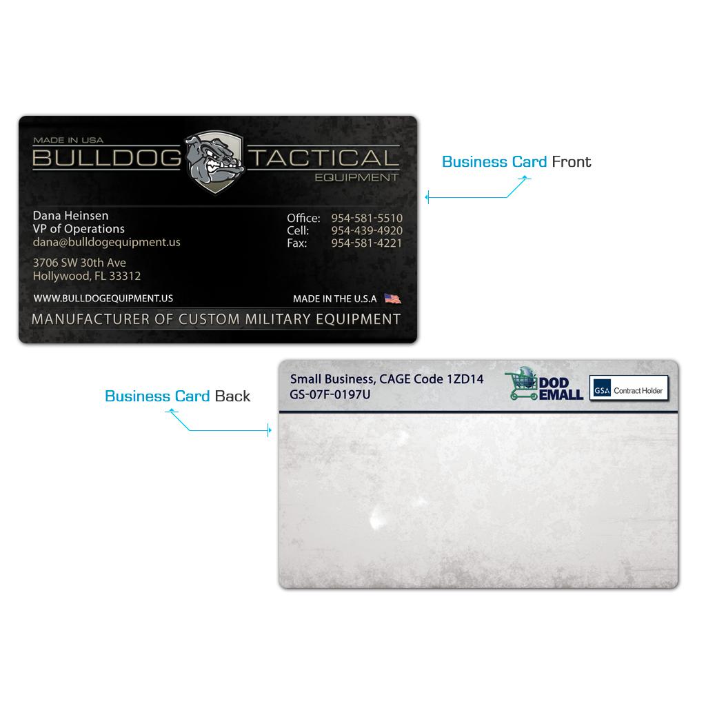 Bulldog Equipment Business Cards