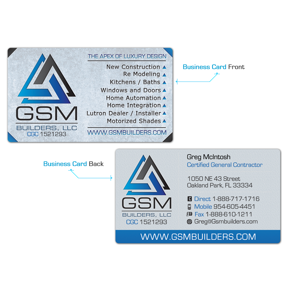 GSM Business Cards