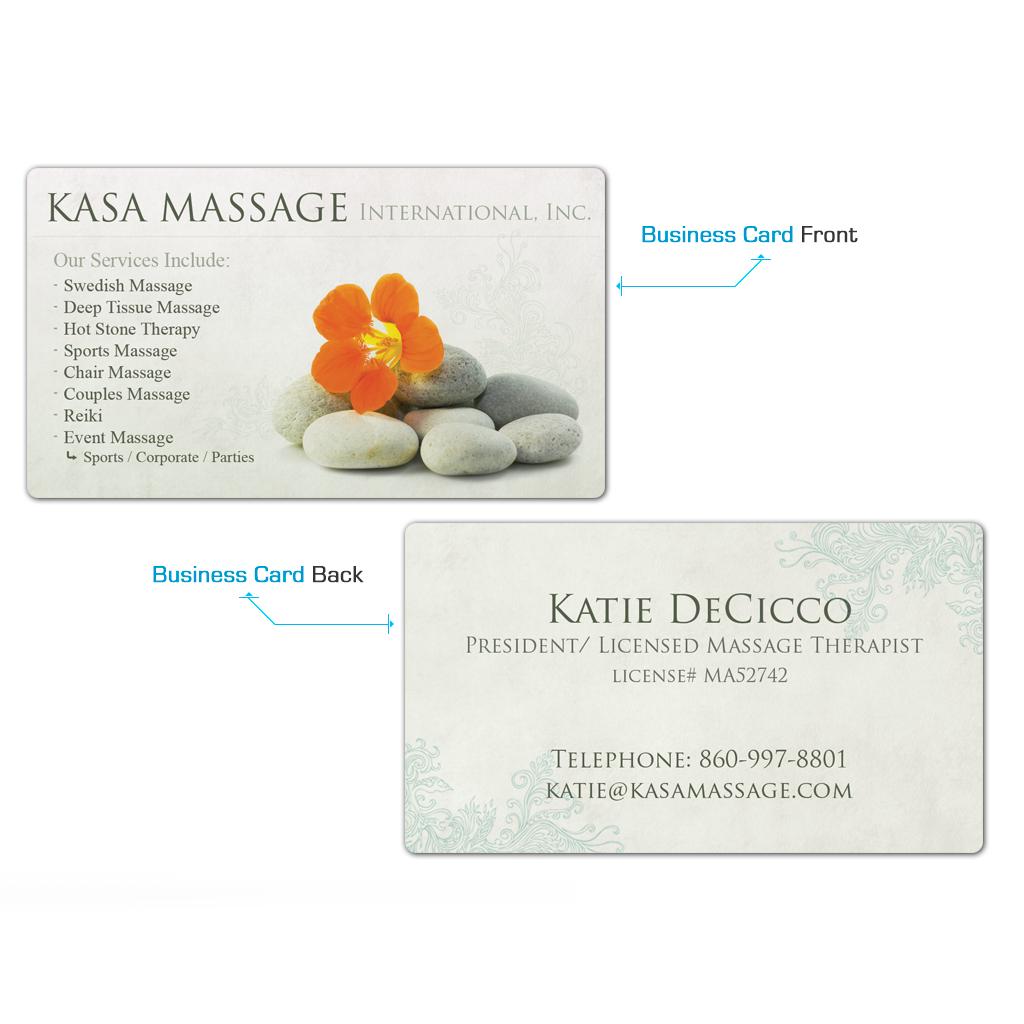 Kasa Massage Business Cards