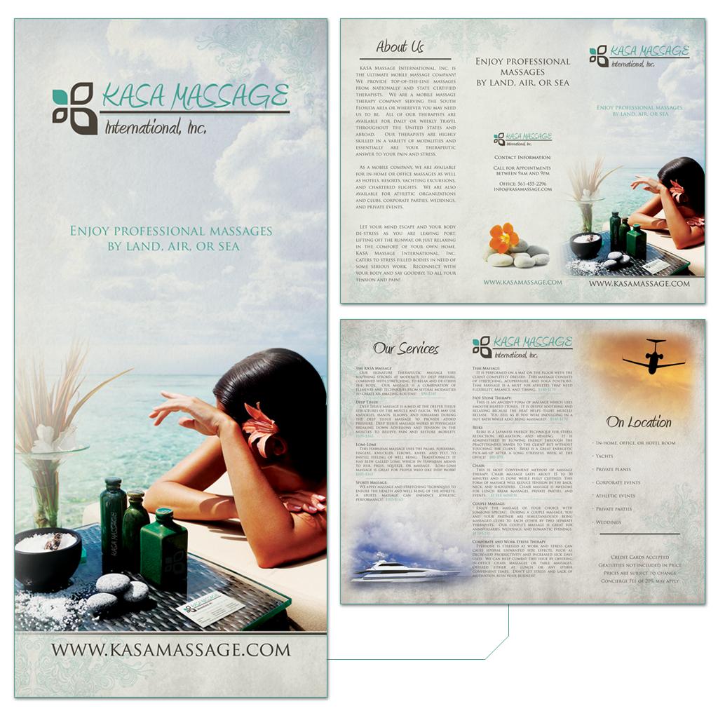 Kasa Massage Trifold Brochure