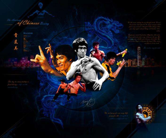 Bruce Lee Custom Photoshop Piece