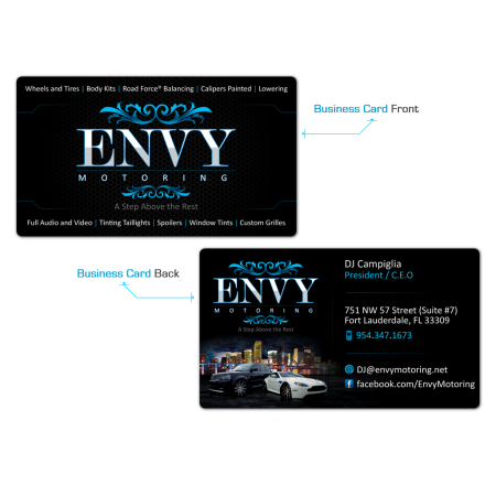 EVNY Motoring Business Cards